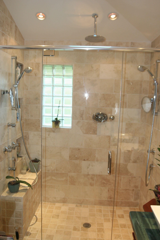 bathroom remodel with walk in shower-put glass block window in bump ...