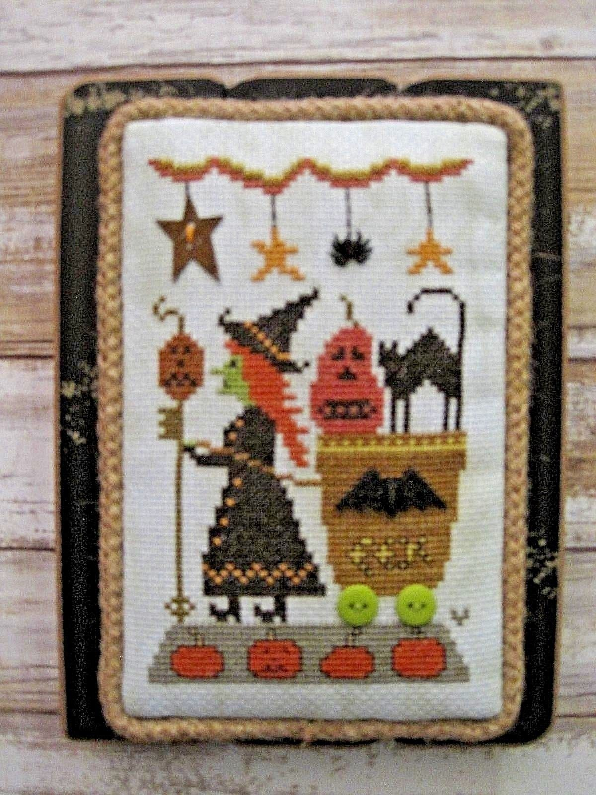 Interio Sofa Caddy 12 50 Witch Delivering Tricks In Wagon Finished Cross Stitch To
