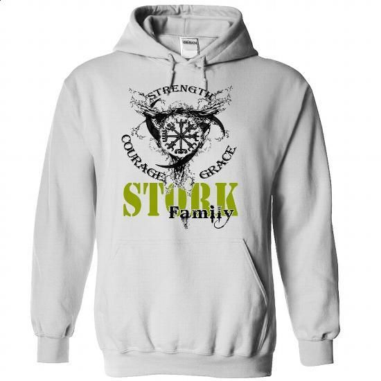 STORK Family - Strength Courage Grace - #oversized hoodie #long hoodie. CHECK PRICE => https://www.sunfrog.com/Names/STORK-Family--Strength-Courage-Grace-ilxnotarhm-White-50314873-Hoodie.html?68278
