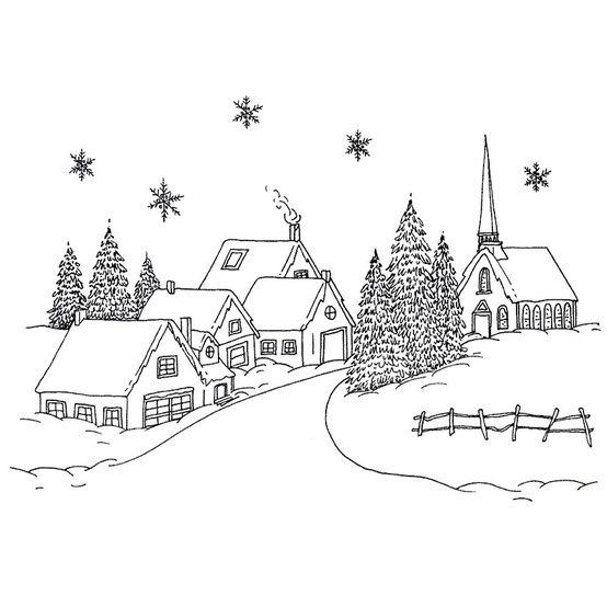 Snowed-in village | Christmas embroidery, Christmas ...