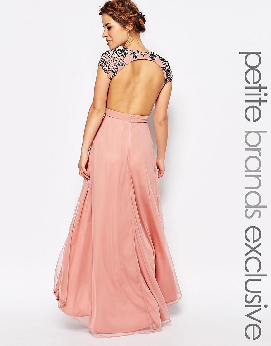 Maya Petite | Maya Petite Allover Embellished Maxi Dress With Open ...