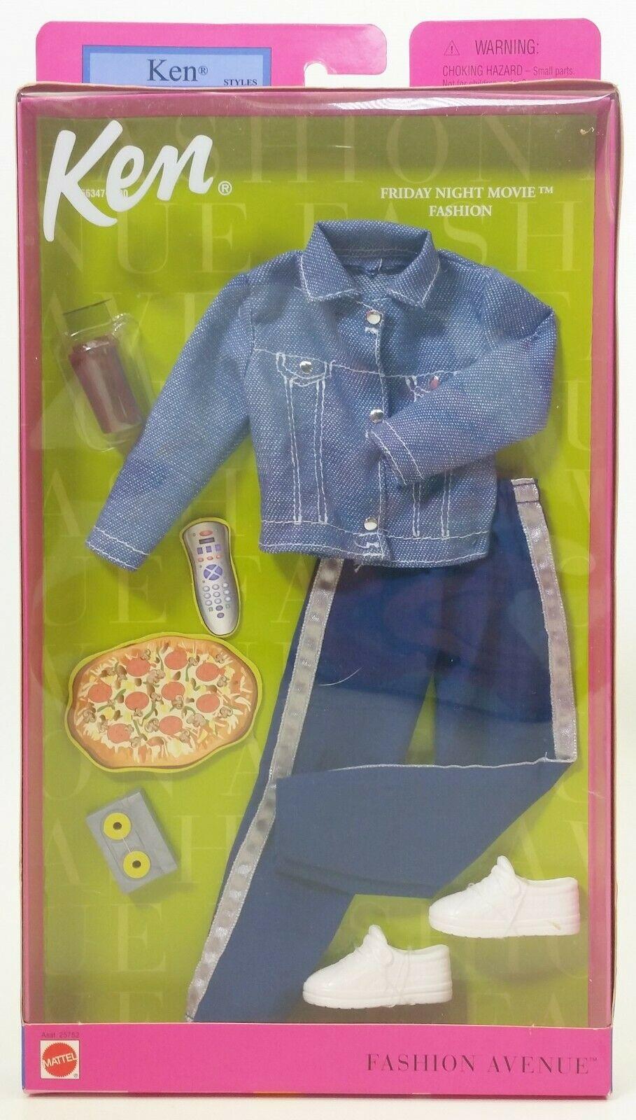 Mattel Ken Styles Friday Night Movie Fashion Avenue Set No 25752 Nrfb 74299257520 Ebay Doll Clothes Barbie Vintage Barbie Clothes Barbie Doll Accessories
