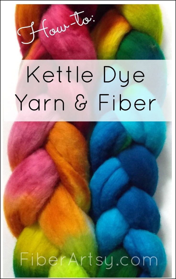 How to Kettle Dye Yarn and Wool Roving Spinning yarn