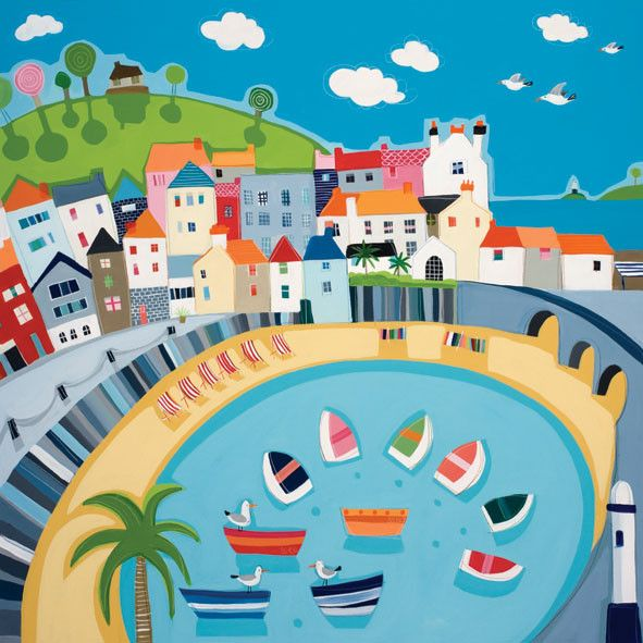 St Ives Deckchairs by Janet Bell