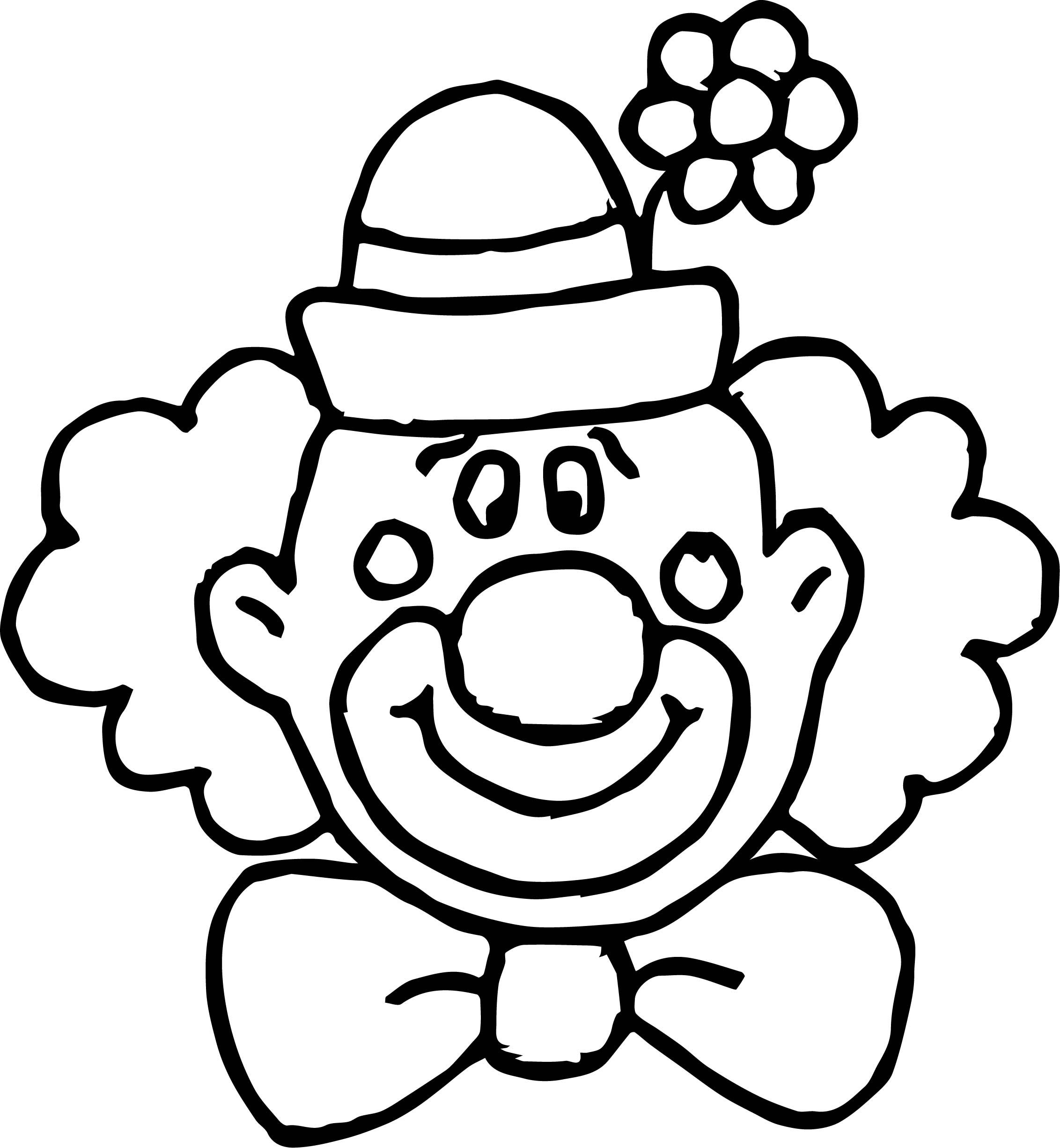 Nice Flower Clown Face Coloring Page Clown Crafts Clown Faces