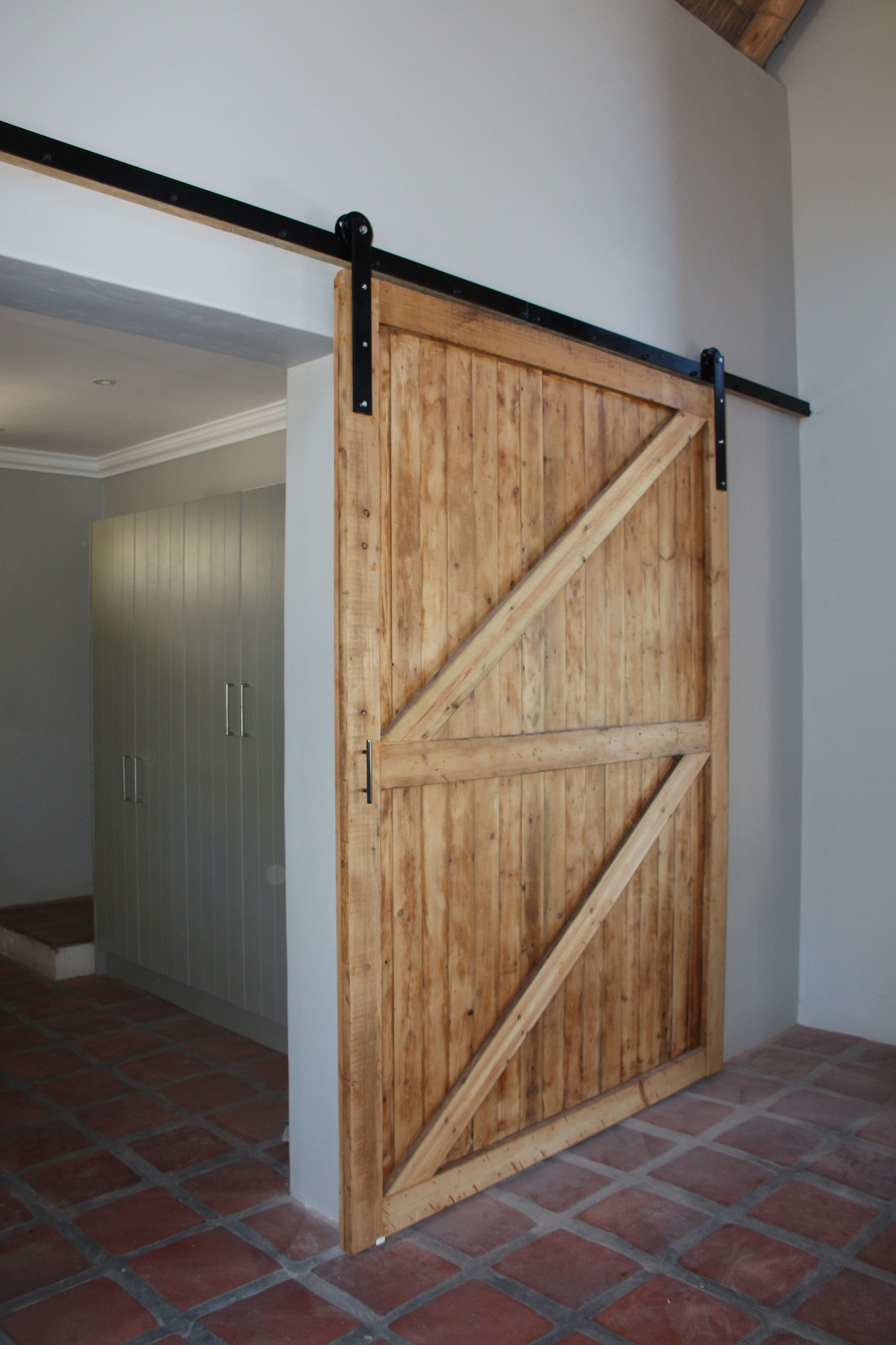 Reclaimed Oregon Pine Barn Door With Barn Door Hardware   Noordhoek, Cape  Town