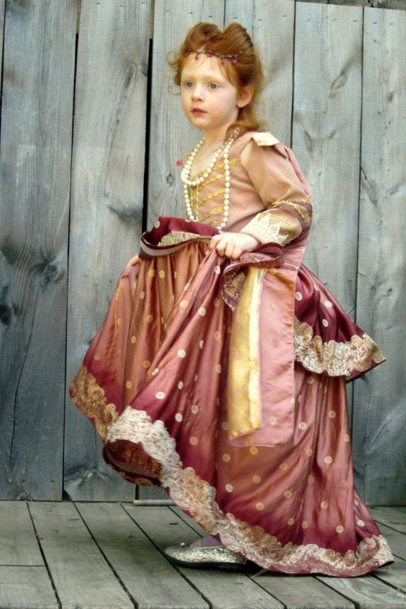 Custom Elizabethan Childs Gown by nellicarave on Etsy, $299.00