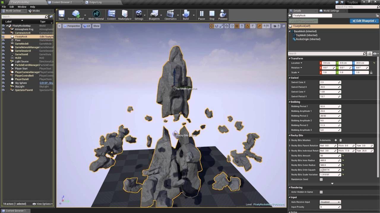 UE4] Floating Rocks Tool | UE4 | Game design, Game mechanics