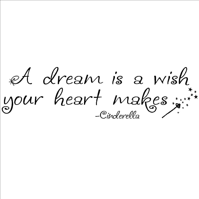 A dream is a wish your heart makesu vinyl decor overstock shopping