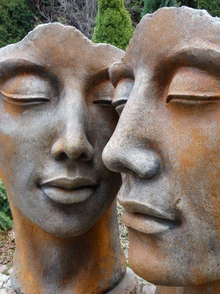 Concrete bust set - face 'woman' and 'man' with rust effect - sculptures - XXL product -  Concrete bust – face 'woman' and 'man' with rust effect – sculptures  - #39man39 #39woman39 #Bust #Concrete #Effect #face #Printmaking #product #Rust #Sculpture #Sculptures #set #WeddingPhotography #XXL