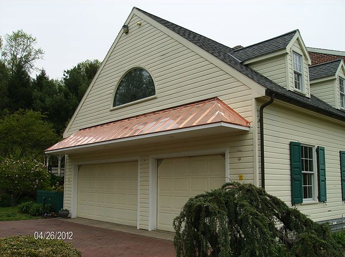 Roof Above Garage Doors On 01 28 13 In Awnings By Windy Valley