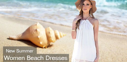 New Summer Women Beach Dresses Sleeveless Cocktail Short Mini Dress