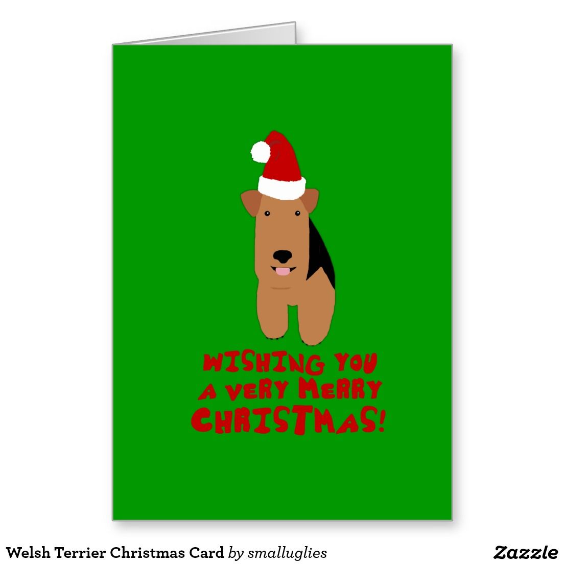 Welsh terrier christmas card welsh welsh terrier christmas card kristyandbryce Image collections