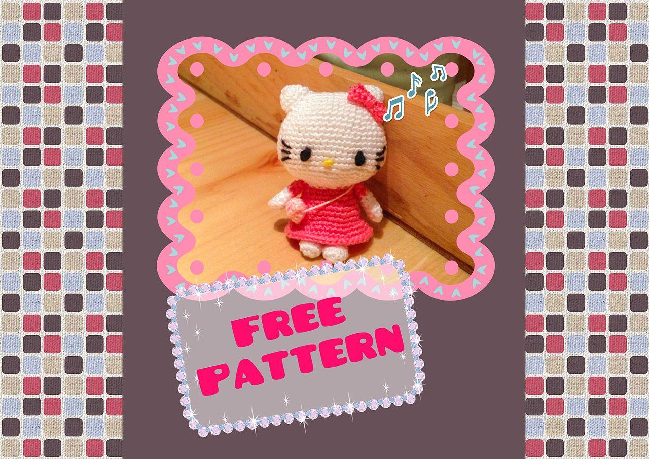 Hello Kitty (Anleitung englisch) | Handarbeit: Häkeln | Pinterest ...