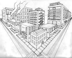 afbeeldingsresultaat voor 2 point perspective city perspective
