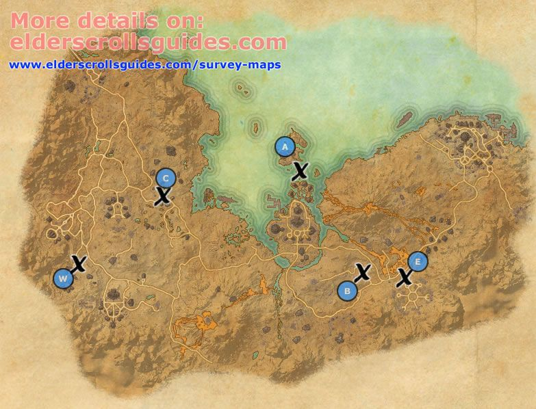 Stonefalls Survey Report Map Elder Scrolls Online Guides Elder