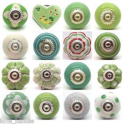 Luxury Green Ceramic Cabinet Knobs
