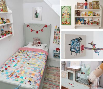 French grey kids bed