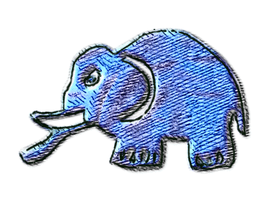 Free Elephants Kids Cartoon Image - Free printable - Many more totally free images on www.artsybeedigital.com