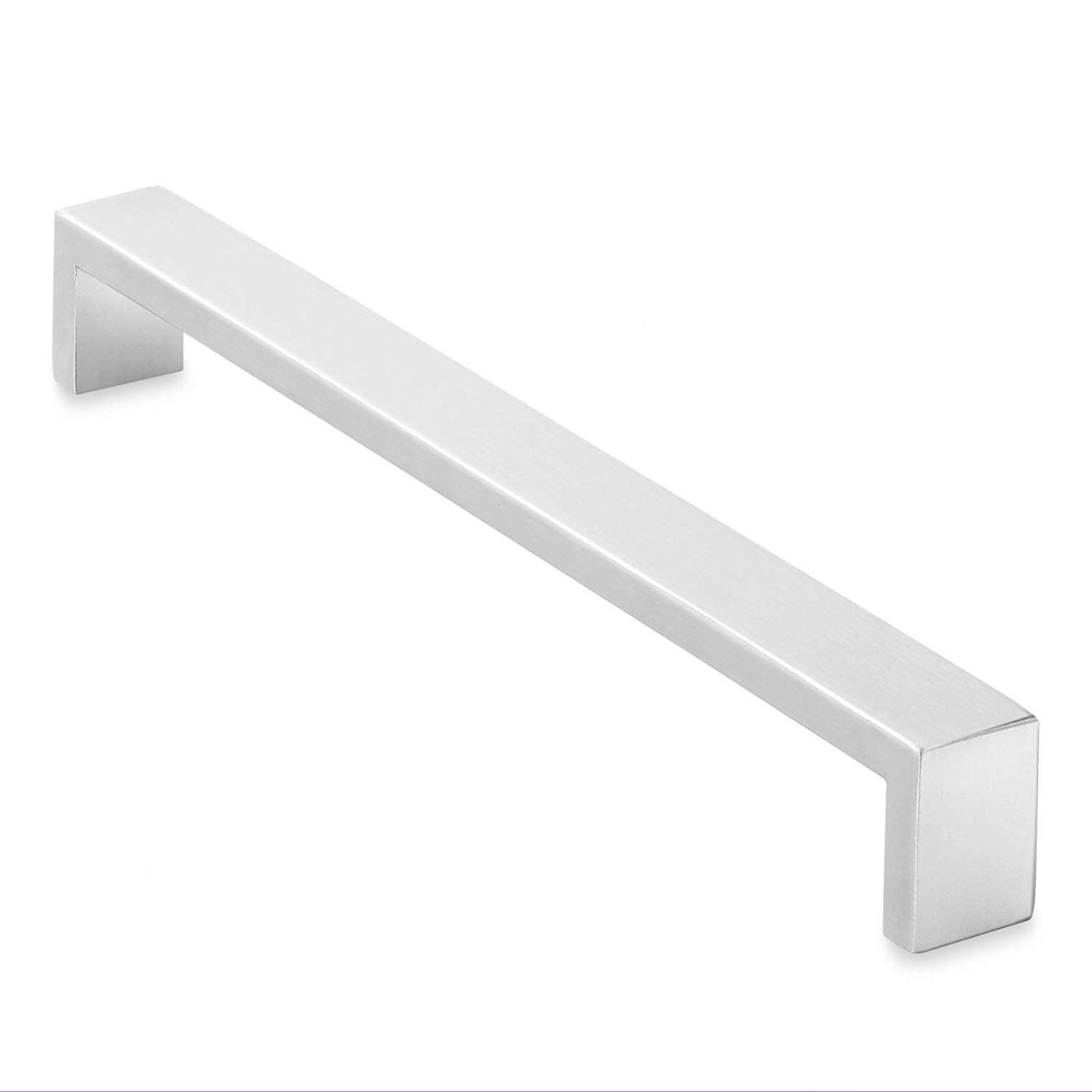 Cauldham Solid Stainless Steel Cabinet Hardware Square Handle Pull Brushed Satin Nickel Stainless Steel Cabinet Hardware Cabinet Hardware Square Steel Cabinet