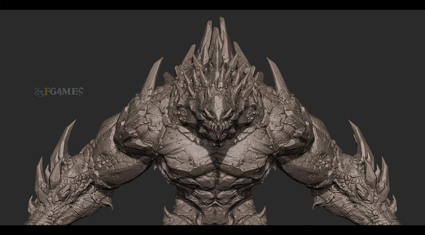 Character Design Unreal Engine 4 : Unreal engine game project giant monster cg sculpts