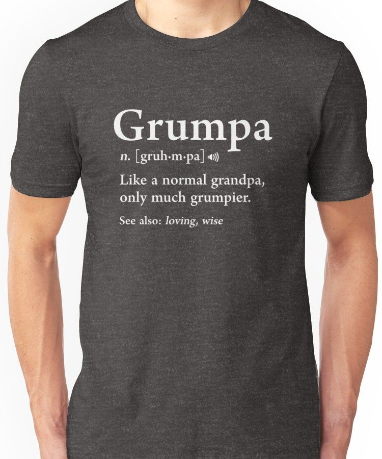 'Grumpa Definition Funny Fathers Day Gift Best Grandpa Cool' T-Shirt by JapaneseInkArt