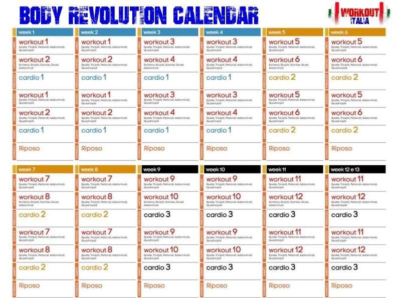 Jillian Micheals Body Revolution Schedule Google Search
