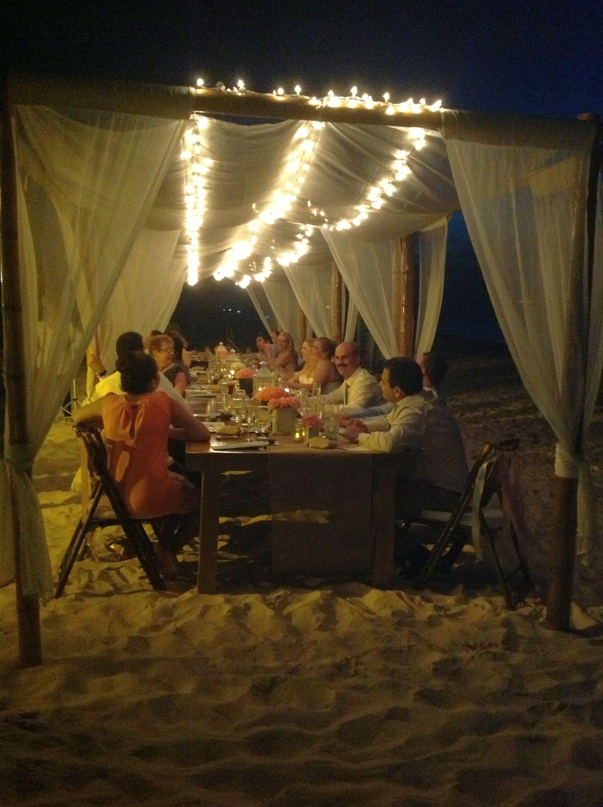 Dinner Set up on the beach