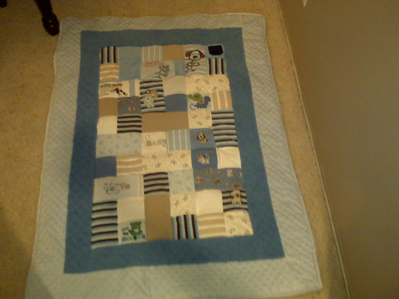 Sullivan S Quilt Made Out Of His Baby Onesies And Sleepers