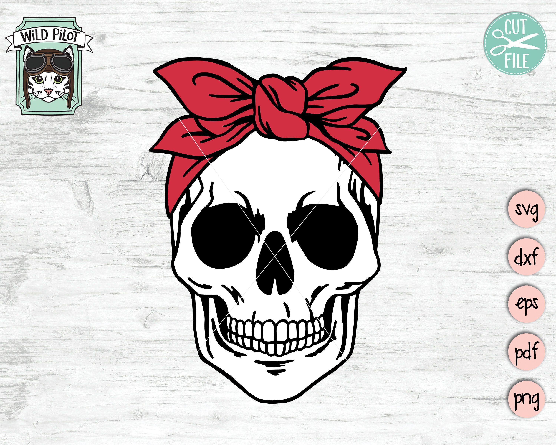 Skull Bandana Svg File Skull Svg Bandana Skull Svg Skull Etsy Skull Svg Floral Skull [ 2400 x 3000 Pixel ]