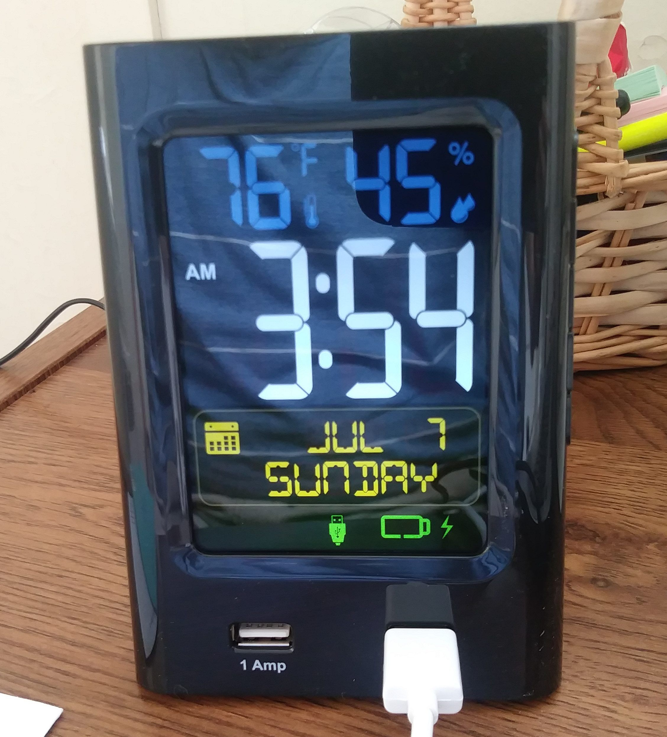 Bauhn Alarm Clock With Usb Charging Alarm Clock Clock Alarm