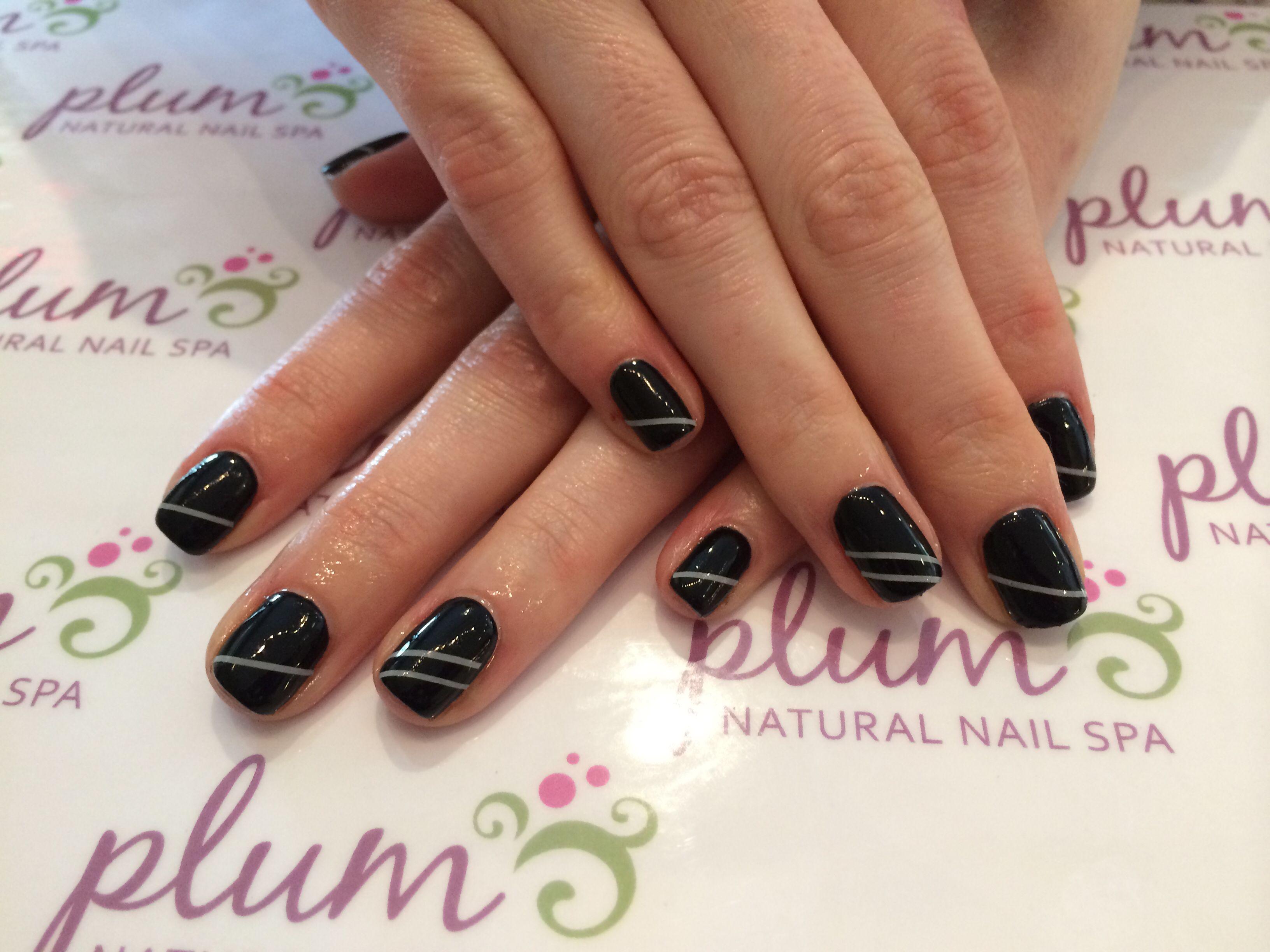 Edgy rock-n-roll nails #nailart #blacknails | Nail Art from Plum ...