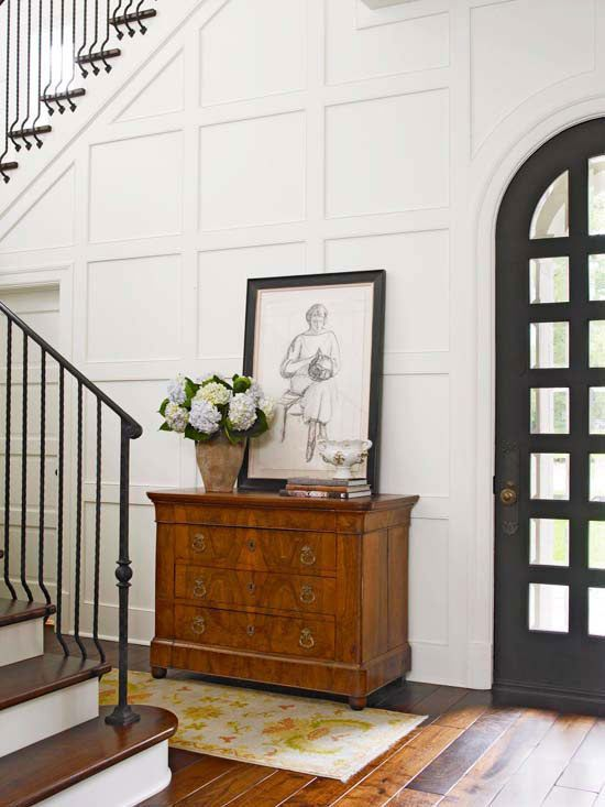 Stylish Interior Wall Ideas Panel Moulding Squares And