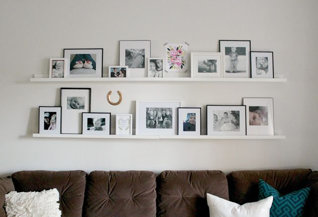 Picture Ledges Photo Gallery Tips And A Giveaway With Images Ikea Picture Ledge Picture Frame Shelves Picture Collage Wall