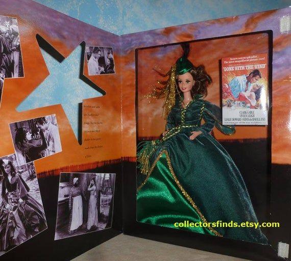 New Barbie SCARLETT in Green Drapery Dresss,  Gone With The Wind Hollywood Legends,  12045, Mattel 1 #hollywoodlegends