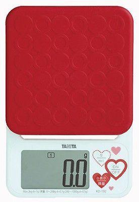 Japan TANITA Digital Kitchen Scales KD 192 Red Big LCD Cooking Scale