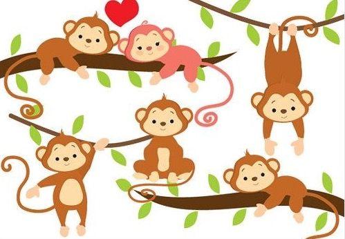 Monkeys Image Animaux Clipart Singe