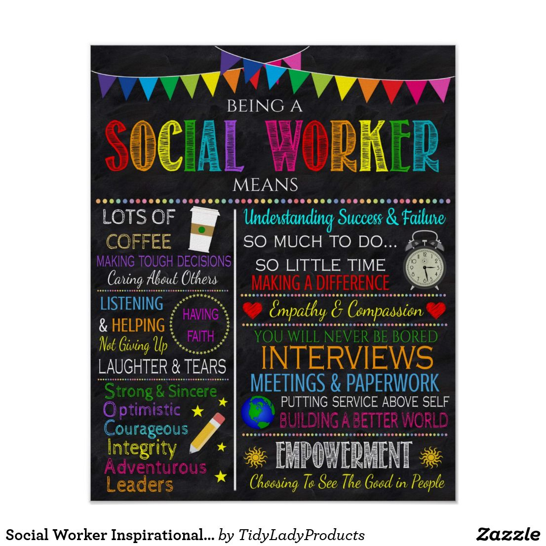 Social Worker Inspirational Art Poster Zazzle Com In 2021 Social Worker Office Decor Social Worker Gifts Social Workers Office