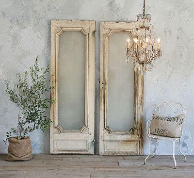 so pretty elegant glass paned doors shabby chic. Black Bedroom Furniture Sets. Home Design Ideas