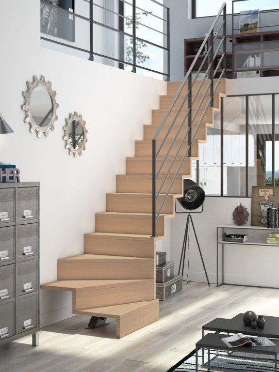Des Idees Pour Alleger L Espace Joli Place Plan Escalier Idees Escalier Escalier