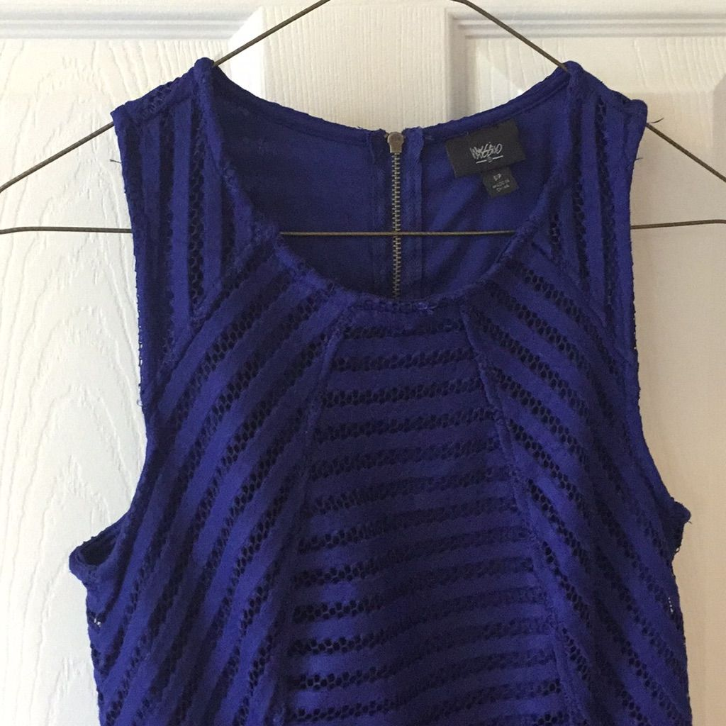 Euc Mossimo Cobalt Blue Fun And Flirty Dress.