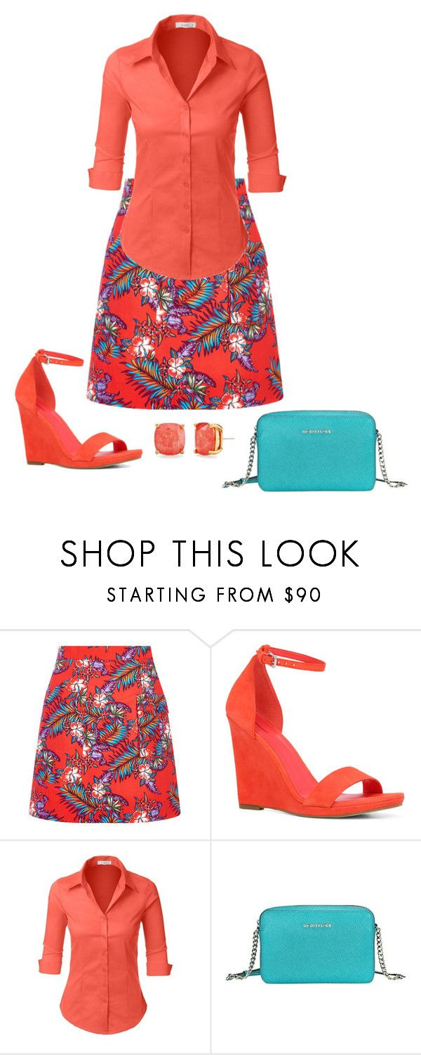"""""""Untitled #4104"""" by bbossboo ❤ liked on Polyvore featuring House of Holland, ALDO, LE3NO, Michael Kors and Kate Spade"""