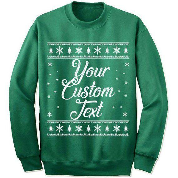 Custom Christmas Sweaters.Customized Christmas Sweater Sweatshirt Custom Christmas