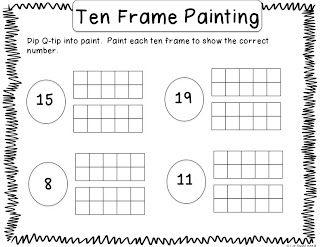 Q Tip Ten Frame Painting Free 2nd Grade Math