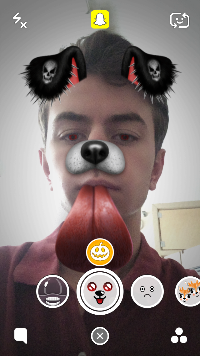 How To Get The Halloween Dog Snapchat Lens Filter Snapchat Faces Dog Halloween Lens Filters