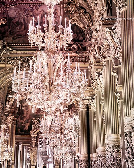 Paris chandelier prints paris photography paris opera crystal paris photography opera palais garnier chandeliers paris pink opera aloadofball Images