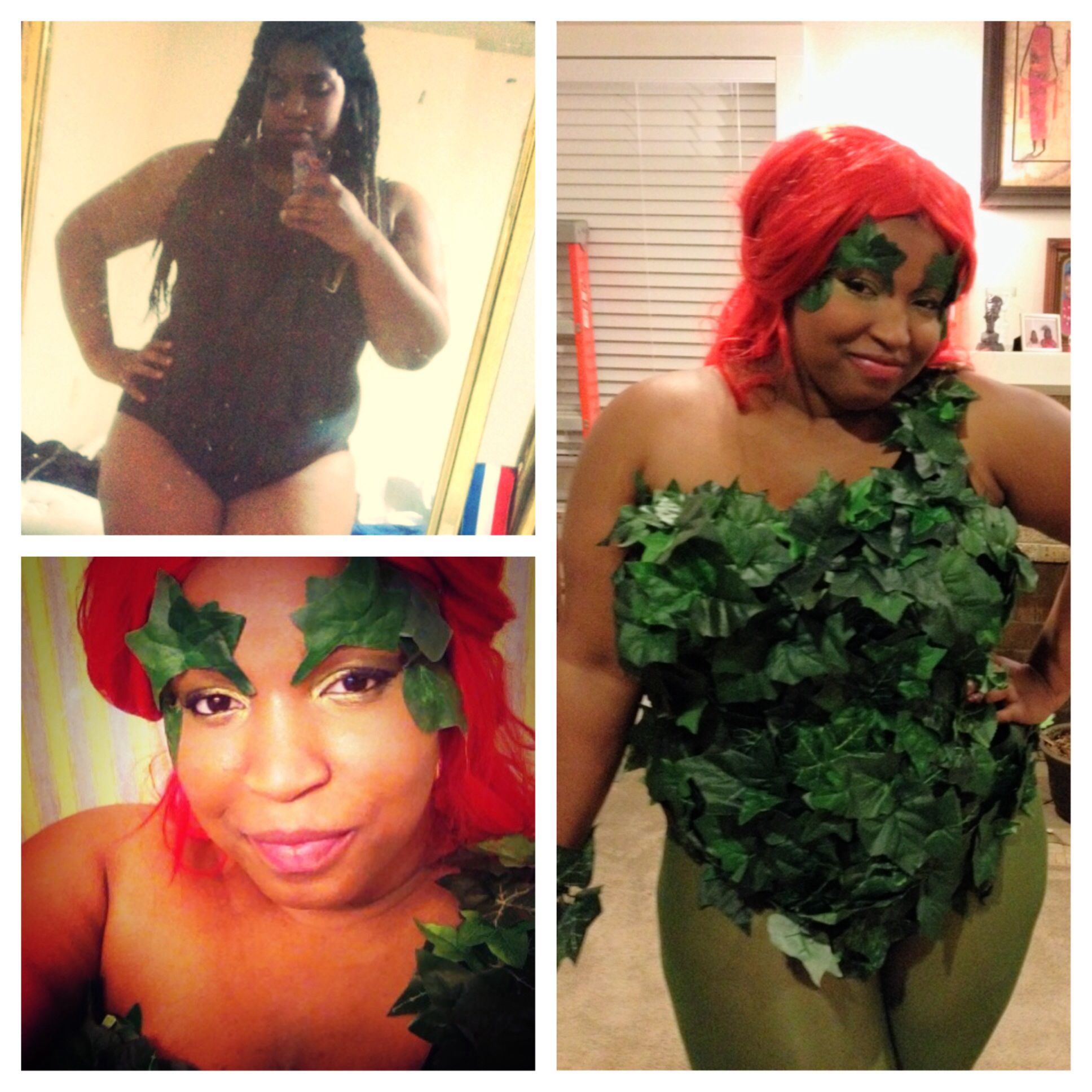 Couldn't find a cool plus-size Poison Ivy Halloween costume, so I ...