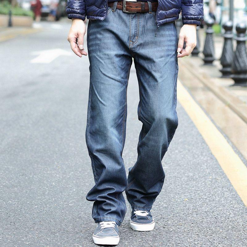 c4c4e41505 Hip Hop Baggy Jeans Mens Denim Hip-hop Loose Pants Rap Jeans For Boy Rapper
