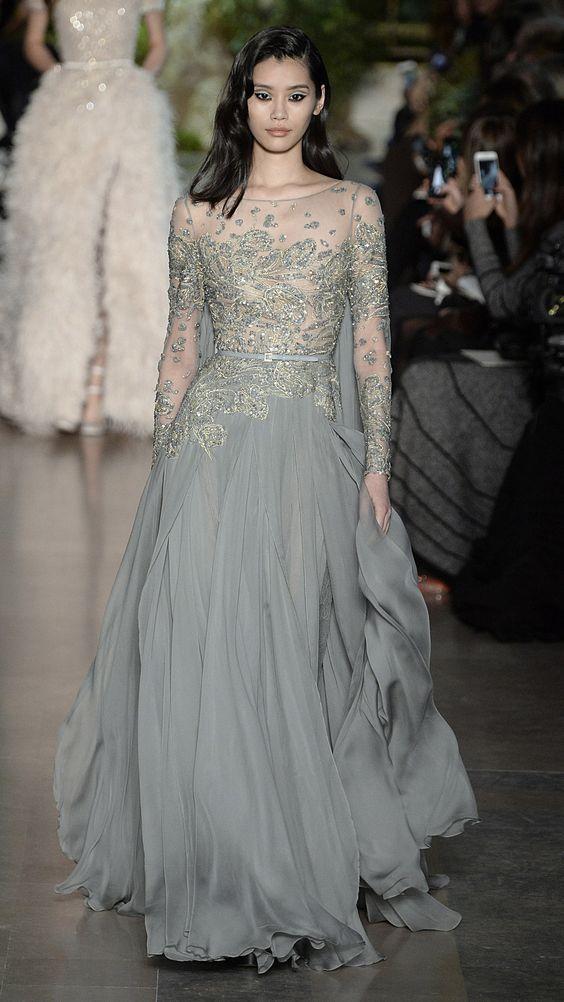 Elie Saab Spring/Summer 2015 Haute Couture via @stylelist   http://aol.it/1EKwxQA: