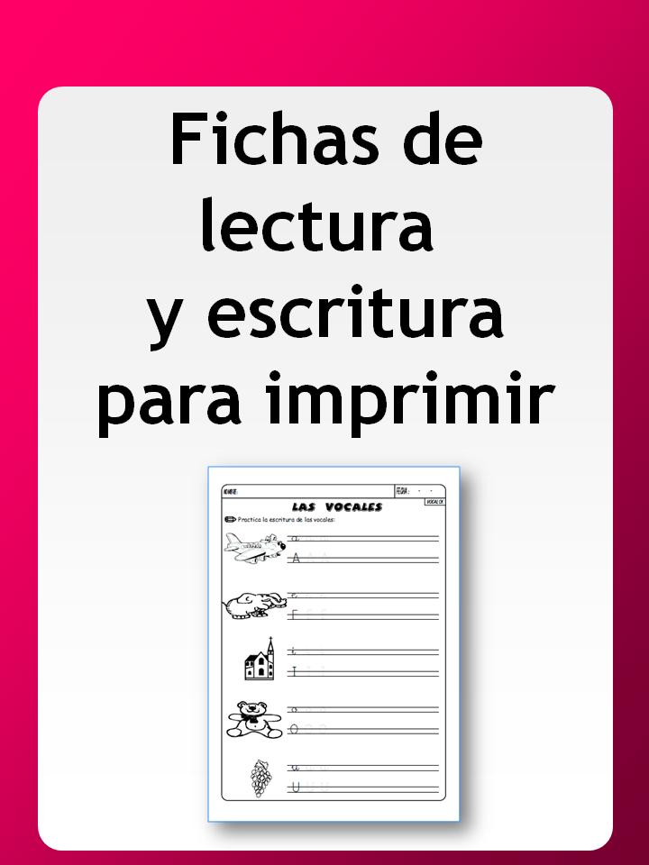 Fichas de lectura y escritura para imprimir | Lecto-Escritura ...